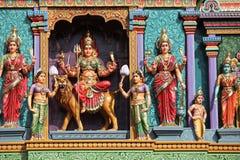 Skulptur, arkitektur och symboler av Hinduism och buddism Royaltyfria Bilder
