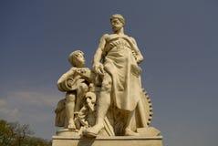 Skulptur auf der Zoll Brücke, Magdeburg, Deutschland Lizenzfreies Stockfoto