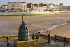 Skulptur auf Hafenseite. Margate. Kent. England Lizenzfreies Stockbild