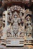 Skulptur auf Somnathpur Tempel, Mysore Stockbild
