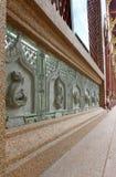 Skulptur auf Wand Stockbilder