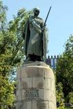 Skulptur av Afonso Henriques royaltyfri foto