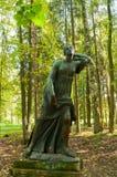 Skulptur av att dö Niobida Gjort enligt originalet av den grekiska skulptören Scopas, 4th århundrade F. KR. Royaltyfria Bilder