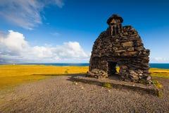 Skulptur av Bardur i den Snaefellsness halvön, västra Island arkivbild