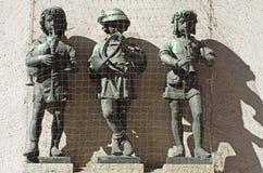 Skulptur av barnmusiker Royaltyfri Bild