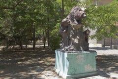 Skulptur av björnar i Centralet Park av kultur och rekreation royaltyfri fotografi
