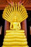 Skulptur av Buddha Arkivbild