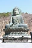 Skulptur av Buddha Arkivfoton