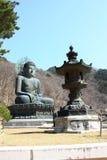 Skulptur av Buddha Arkivbilder