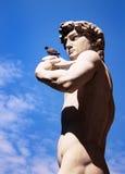 Skulptur av David av Michelangelo, Florence, Italien royaltyfri bild