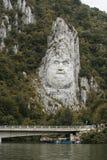 Skulptur av Decebalus Arkivfoto