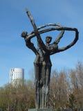 Skulptur av den original- formen i Astana Royaltyfri Foto