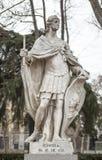 Skulptur av den Suintila konungen på Plaza de Oriente, Madrid, Spanien Royaltyfri Foto