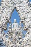 Skulptur av den vita munken Arkivbild