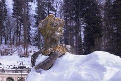 Skulptur av det 19th århundradet i en ` för `-snöbad, Arkivbild
