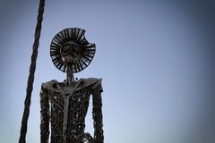Skulptur av Don Quijote de la mancha Royaltyfria Foton