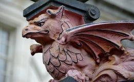 Skulptur av draken Royaltyfri Foto