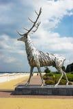 Skulptur av en hjort, symbol av Nizhny Novgorod Arkivbild