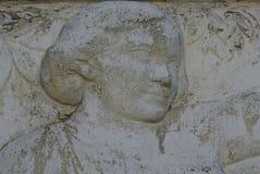 Skulptur av en kvinnas huvud royaltyfria foton