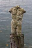 Skulptur av en manlig torso Royaltyfria Bilder