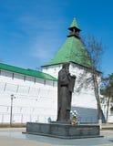 Skulptur av en munk Royaltyfri Foto