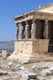 Skulptur av Erechtheum det forntida grekiska tempelet Arkivbilder