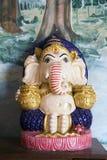 Skulptur av Ganesha på Wat Phra That Doi Kong mu Arkivbild