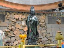 Skulptur av Guanyin jade i Watthammongkon av Thailand Royaltyfri Foto