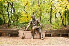 Skulptur av Hans Christian Andersen New York City Royaltyfri Foto