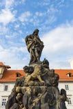 Skulptur av helgonet Vitus Arkivfoto