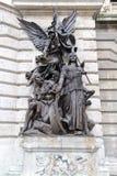 Skulptur av kriget av Karoly Senyey arkivfoton