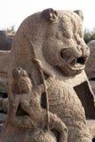 Skulptur av kusttempelet av Mamallapuram Royaltyfri Fotografi
