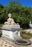Skulptur av kvinnasfinxen Arkivfoto