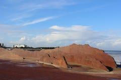 Skulptur av Lakeland avverkningar på Morecambe promenad Royaltyfria Bilder