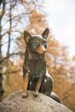 Skulptur av Liska Bystrouska på Hukvaldy i Tjeckien royaltyfri bild
