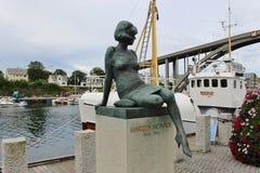 Skulptur av Marilyn Monroe Haugesund Norge Arkivbilder