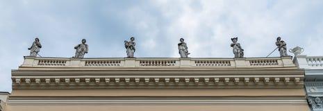 Skulptur av museet Behnhaus Draegerhaus i Luebeck, Tyskland arkivbild