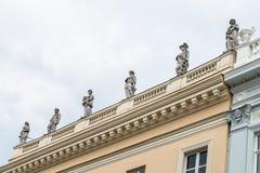 Skulptur av museet Behnhaus Draegerhaus i Luebeck, Tyskland royaltyfria foton