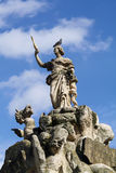 Skulptur av mytisk Europa och draken Royaltyfria Bilder