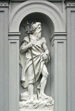 Skulptur av Neptune i Bergen, Norge Arkivbilder