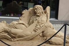 Skulptur av sand Arkivbild