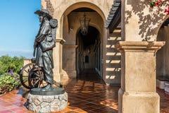 Skulptur av soldaten på mormonbataljonplatsen i San Diego Arkivfoto