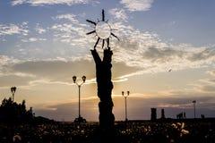 Skulptur av solen Royaltyfri Foto