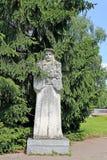 Skulptur av stenen Francisc Skaryna i en Yanka Kupala parkerar Fotografering för Bildbyråer