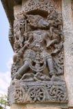 Skulptur av Varaha, 10th inkarnation av Vishnu, Kedareshwara tempel, Halebidu, Karnataka Royaltyfri Bild