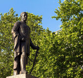 Skulptur av Viktig-allmänna Sir Henry Havelock på Trafalgar Square, London, 2015 Royaltyfria Bilder