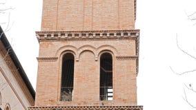 Skulptur beim Parrocchia Santa Croce Rom, es stock video footage