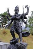 Skulptur Buddhismus-Königs Kong, luftgetrockneter Ziegelstein rgb Lizenzfreie Stockfotografie