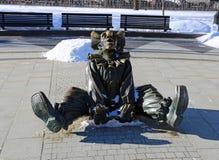 Skulptur-Clown stockfotos