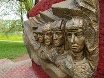 Skulptur an den Erinnerungstankern Stockfotografie